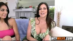 MILF threesome 2 sexy MILFS Kendra Lust and Amber Cox 1 001