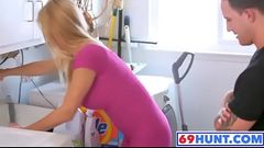 Stunning Stepmom Vanessa gets Drilled by Stepson Zack www.69hunt.com
