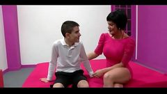 Milf Short Hair And Very Young Boy - Watch Part2 on hot69.org