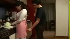Japanese Mother an Son in Kitchen Fun - Watch Part2 on hot69.org