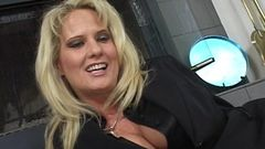 Blonde MILF Rides Her Stepson'_s Big Cock!