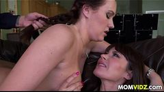 Stepmom Eva Karera catches Holly Hudson getting fucked