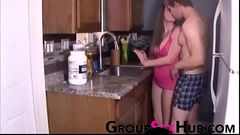 Son is back home at GroupSexHub.com - Watch free porn videos GroupSexHub.com